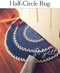 beautiful half circle rugs and half circle rug quick easy q hook crochet pattern 78 round