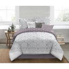 nicole miller nicole miller 5 piece queen multi medallion comforter set
