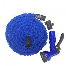 flexible garden hose. CARKING New Latex Garden Water Hose, 15m Expanding Flexible Gun Car Wash With Spray Nozzle - Blue Hose A