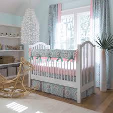 Carousel Designs Crib Rail Cover Aqua Haute Baby Crib Rail Cover