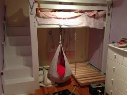 Kids Space Loft Bed Bunk Build With Hanging Toddler And Swing. holiday  living christmas decorations ...