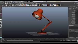 modelling the desk lamp in maya
