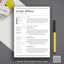 creative resume template modern cv template word cover creative resume template modern cv template word cover letter references instant mac pc jennifer