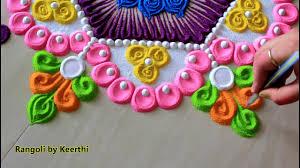 New year rangoli designs with colours l rangoli for new year l rangoli ...