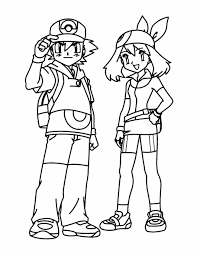 Small Picture Ash Coloring Pages Coloring Pages Ash Ketchum And Pikachu Anime