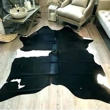 large cowhide rug large cowhide rug black white and large cowhide rugs