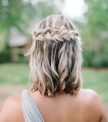 Coiffure Mariage Cheveux Courts Tresse Kapokto