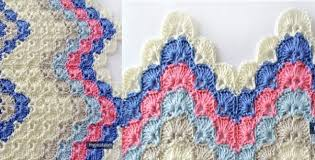 Crochet Ripple Pattern Classy Crocheted Ripple Shell Stitch [FREE Crochet Pattern]