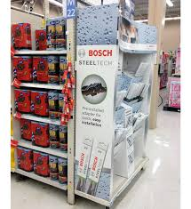 Wiper Blade Display Stand Bosch Steel Tech Wiper End Cap Display Provides a Clear View for 69