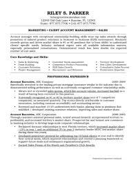 Executive Resumes Sample Resume Formats And Marketinges Account