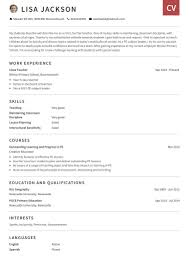 Simple Cv Examples Uk Cv Examples Use Our Templates To Professionally Format Your Cv