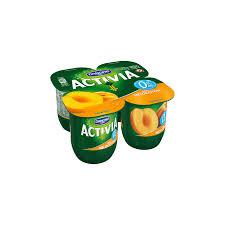 dannon activia peach flavor yogurt 4 units x 125 g