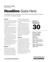 Information Sheet Templates - Marketing Toolbox - Davidson College