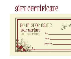 Printable Gift Certificates Online Detail 24612714996521 Free