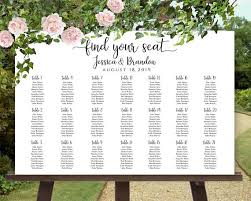 Seating Chart Wedding Sign Printable Wedding Sign Seating Chart Sign Wedding Seating