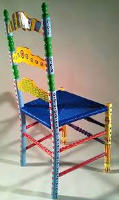 colorful painted furniture. Unique Painted Hand Painted Furniture Colorful Crazy Ladder Back Chair In V