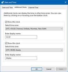 How To Show Multiple Clocks On Windows 10 Taskbar