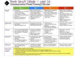 Sample Training Calendar Format Samancinetonic Adstime Us