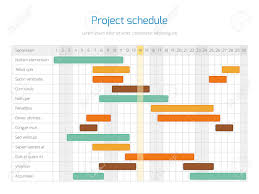 Project Planning Timeline Project Schedule Chart Overview Planning Timeline Vector Diagram