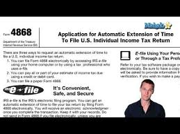 How To File For A Tax Extension - Youtube