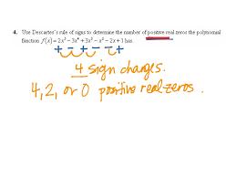 Descartes Rule Of Signs Math Precalculus Showme