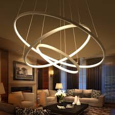 dining room pendant lighting. Modern Pendant Lights For Living Room Dining 3/2/1 Circle Rings Acrylic Lighting
