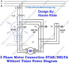 17 best images about elettro circuit diagram three phase motor connection star delta out timer power diagrams
