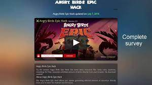 Angry Birds Epic Online Hack on Vimeo