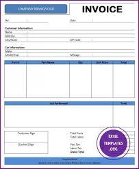 Excel Temp Service 018 Automotive Repair Invoice Template Business Creative