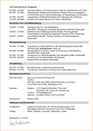 Lebenslauf Muster Und Tipps Hamburg De Tabellarischer