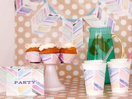 Design Party Decorations Amazing DIY Watercolor Party Decorations HGTV
