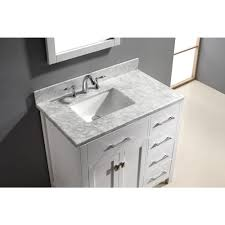 36 white vanity with sink. sink bathroom vanity caroline parkway 36 inch white finish single with a