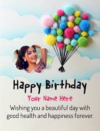 birthday wishes with name and photo for