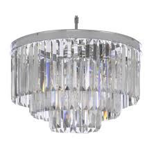 palladium 9 light chrome crystal glass fringe modern chandelier