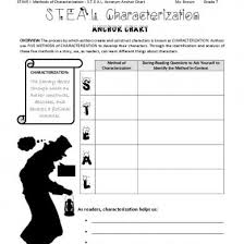 Steal Characterization Chart Christmas Carol Stave 1 S T E A L Characterization