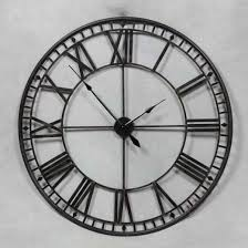 skeleton wall clock black wall clock