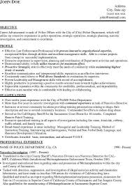 Resumes For Police Officers Officer Skills Resume Military Sample