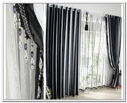 Beautiful Black And White Curtains Grey On Decorating Ideas