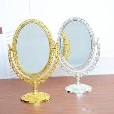 europe desktop makeup decorative mirror retro double sided vanity mirror simple large portable mirror oval figurine f1084 conair makeup mirror hand held