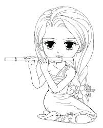 Anime Coloring Pages For Girls Anime Coloring Pages Girls Sheets For