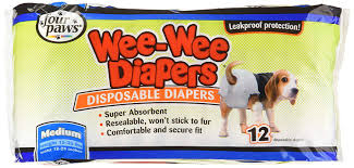 Wee Wee Diapers Size Chart Four Paws Wee Wee Disposable Doggie Diapers