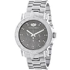 men s diamond watches save 50 80% on diamond wrist watches large face diamond watches for men oversized luxurman escalade watch 0 25ct