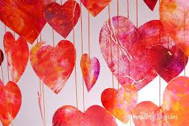12 crayon hearts