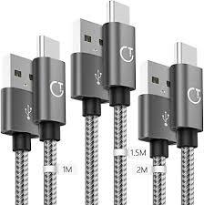Gritin <b>USB</b> C Cable, [3-Pack/<b>1M</b>+1.5M+<b>2M</b>] <b>USB</b> Type C Fast ...