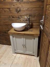 rustic oak bathroom furniture. chunky rustic painted bathroom sink vanity unit wood shabby chic *farrow\u0026ball rustic oak bathroom furniture t