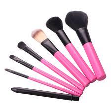 las high quality women basic 7pcs professional makeup goat hair brush powder blush eye shadow set