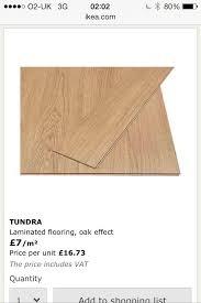 brand new ikea tundra laminated flooring oak effect covers 12 sq
