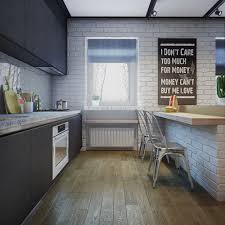 Brick Kitchen White Brick Kitchen Interior Design Ideas