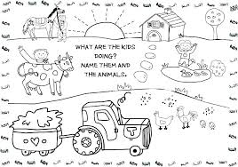 Farm Animals Colouring Pages For Free Farm Printable Coloring Pages