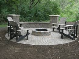 fire pit round stone circular paver patio we assume this would increase cost due to the